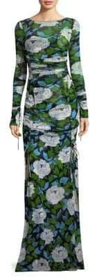 Diane von Furstenberg Floral-Print Mesh Dress