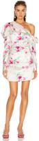 Les Rêveries Off Shoulder Puff Sleeve Mini Dress in Chrysanthemum Pink | FWRD