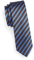 Haight And Ashbury Slim Striped Silk Tie