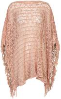 Cream Soft Sparkly Poncho