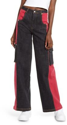 I.AM.GIA Bessi High Waist Wide Leg Cargo Jeans
