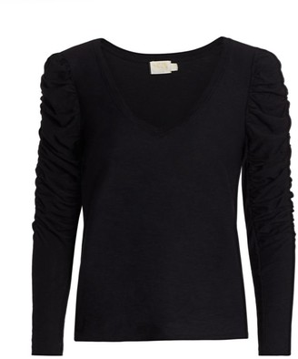 Nation Ltd. Kristen Slim-Fit Ruched Long-Sleeve T-Shirt