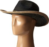 San Diego Hat Company Women's Panama Hat with Contrast Gold Trim