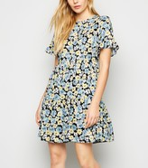 New Look Floral Smock Frill Dress