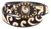 Miu Miu Velvet Studded Belt