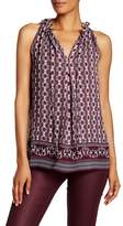Max Studio Printed Sleeveless Blouse