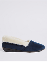 M&S Collection Fur Ballerina Slippers