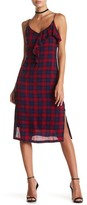 Lush Kate Plaid Ruffle Midi Dress