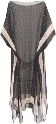 Stella McCartney Belted Logo-print Silk-chiffon Coverup