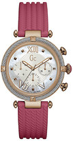 Gc Ladies' CableChic Pink Silicone Strap Watch
