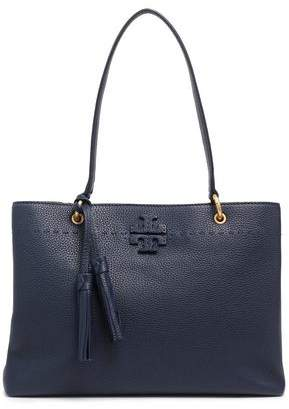Tory Burch Tasseled Pebbled-leather Tote