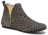 Ippon Vintage Women's Patch gold Rounded toe Ankle Boots in Blue