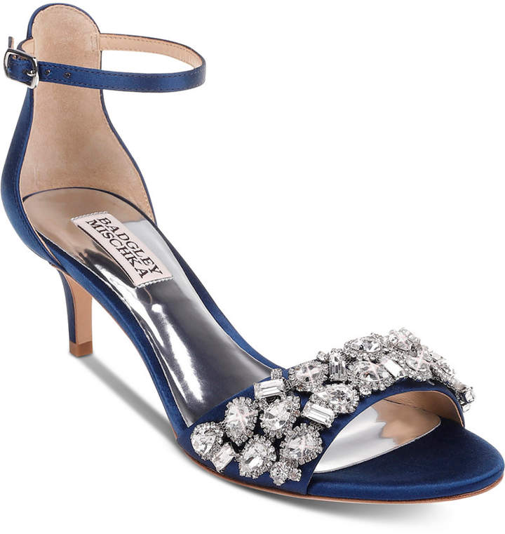 00ff9d88 Navy Evening Shoes - ShopStyle