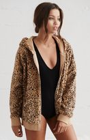 La Hearts Kitten Faux-Fur Zip-Up Hoodie