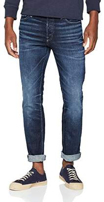 Jack and Jones Men's Slim Fit Jeans Casual Skinny Trousers Pants, (Blue Denim), W36/L32 (Size: 36)