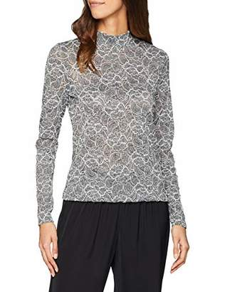 Esprit Women's 108eo1k011 Long Sleeve Top, Grey (Medium 035), Small