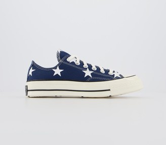 Converse Ox 70s Trainers Navy White Egret Star