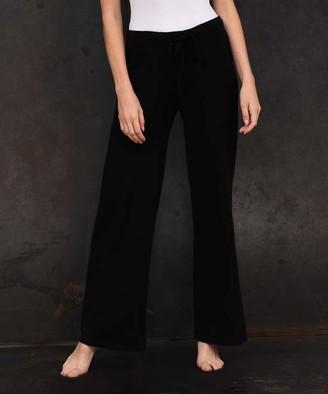 Colour Works by In Cashmere Women's Sweatpants Black - Black Cashmere Lounge Pants - Women
