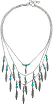 Lucky Brand Feather Layered Necklace