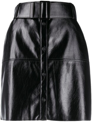 MSGM Belted Panelled Mini Skirt