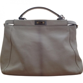 Fendi Ecru Leather Handbag Peekaboo