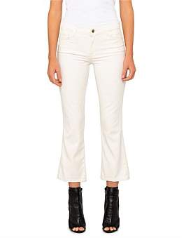 J Brand Selena Mid Rise Crop Boot Jean With Gold Glimmer