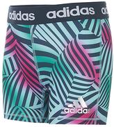 adidas Green & Pink Wave Short Tights - Girls