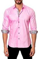 Jared Lang Trim Fit Dobby Sport Shirt