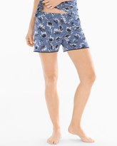 Soma Intimates Satin Trim Pajama Shorts Bestowed Slate Blue