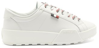 Moncler Sal Logo-patch Leather Trainers - White