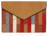 Rebecca Minkoff Leo Leather Envelope Clutch - Brown