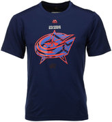 Majestic Men's Columbus Blue Jackets Solid Win Synthetic T-Shirt