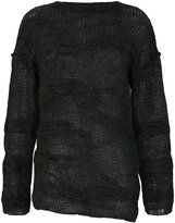 Isabel Benenato sheer chunky knit sweater