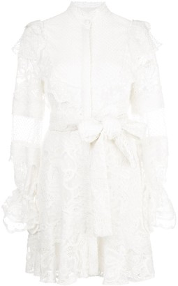Alexis Shanna lace shirt dress