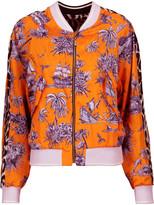 Just Cavalli Printed satin-twill bomber jacket