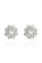 Quiz Silver Jewel Stud Earrings