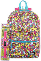 Confetti SMILEY FACE BACKPACK WITH BONUS FITNESS WATCH