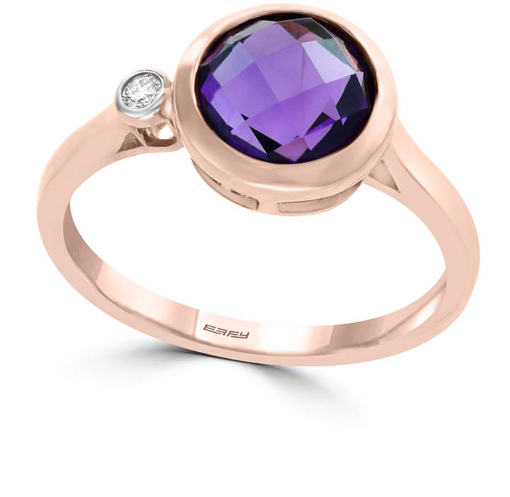 fc88ceb13b093 Amethyst (1 1/2 ct. t.w.) and Diamond Accent Ring in 14k Rose Gold