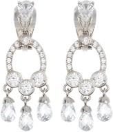 Carolee CZ Mini Chandelier Clip Earrings