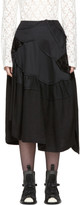 Comme des Garcons Black Multi Fabric Skirt