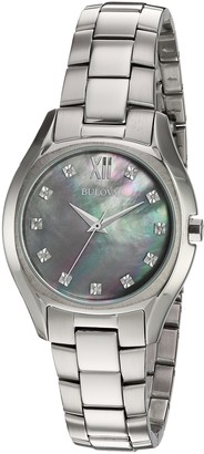Bulova Women's Quartz Watch with Silver-Plated-Stainless-Steel Strap 16 (Model: 96P158)