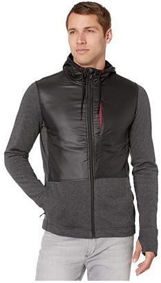 Smartwool Merino Sport Fleece Full Zip Hybrid Hoodie (Charcoal Heather) Men's Sweatshirt