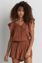American Eagle Outfitters AE Pintucked Ruffle Romper