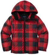 Ralph Lauren Plaid Down Jacket, Big Girls (7-16)