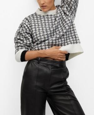 MANGO Women's Houndstooth Sweater