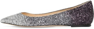Jimmy Choo 10mm Romy Degrade Glitter Flats