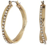 GUESS Stone Snap Hoops Earrings