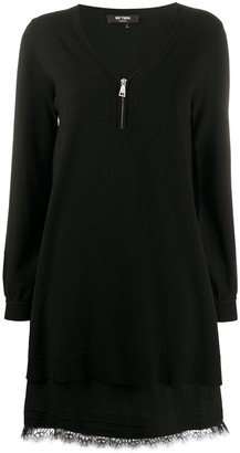 Twin-Set Long-Sleeve Shift Dress