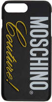 Moschino Black Couture iPhone 8 Plus Case