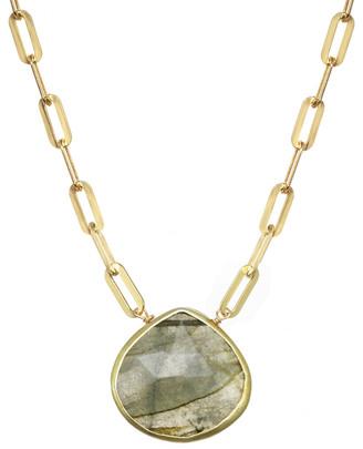 Rachel Reinhardt 14K Over Silver Labradorite Princess Collar Necklace